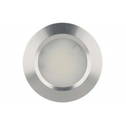 Mini Faretto Led Da Incasso 3W Alluminio Satinato 12v 24v