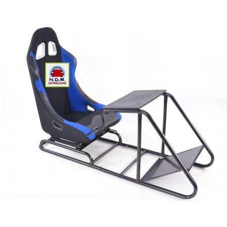 Simulatore Sediolino da corsa su PC e Console di gioco NERO GRIGIO