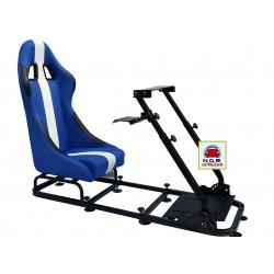Simulatore Sediolino da corsa su PC e Console di gioco BLU BIANCO
