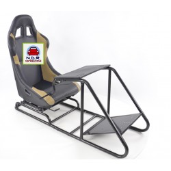 Simulatore Sediolino da corsa su PC e Console di gioco BEIGE NERO