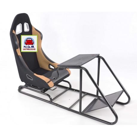 Simulatore Sediolino da corsa su PC e Console di gioco NERO BEIGE