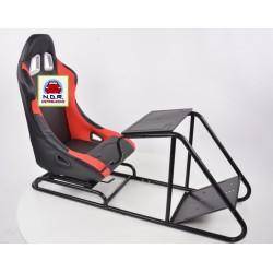 Simulatore Sediolino da corsa su PC e Console di gioco ROSSO