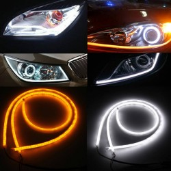KIT Tubo Neon Strip Led Auto 60cm Bicolor