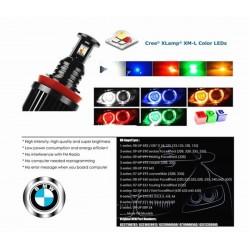 ANGEL EYES BMW RGB CON APP SMARTPHONE ATTACCO H8