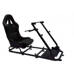 Simulatore Sediolino da corsa su PC e Console di gioco NERO BLACK