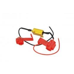 Resistenza Filtro Per Lampada LED T10 T11 W5W C5W C10W 10W 15 Ohm No Spia Errore Per Luci Posizione e Targa