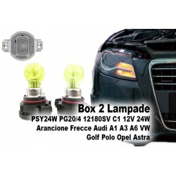 Lampade PSY24W PG20/4 12180SV C1 12V 24W Arancione Frecce Audi A1 A3 A6 VW Golf Polo Opel Astra