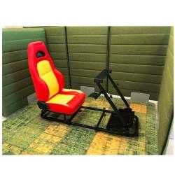 Simulatore Sediolino da corsa su PC e Console di gioco GIALLO ROSSO