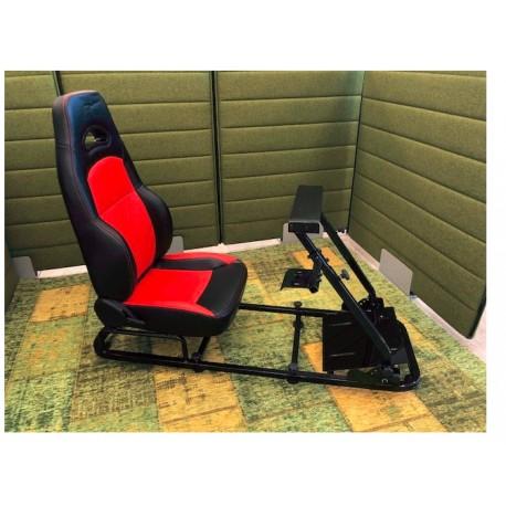 Simulatore Sediolino da corsa su PC e Console di gioco RED BLACK