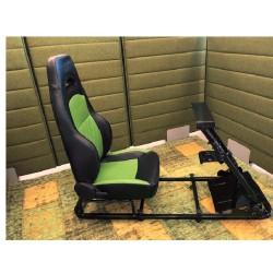 Simulatore Sediolino da corsa su PC e Console di gioco GREEN BLACK