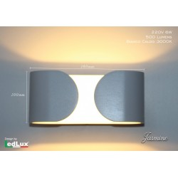 Applique Led Jasmine Italian Design bianco caldo