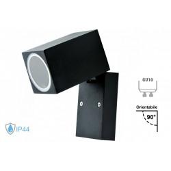Applique Lampada Da Parete Quadrato Orientabile Attacco GU10 IP44