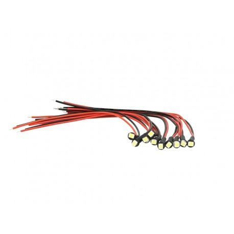 10 Pezzi Micro Mini Lampada Led Con Filo 24V Smd 3528