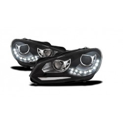 Fanali GOLF 6 VI stile GTI con luci diurne LED