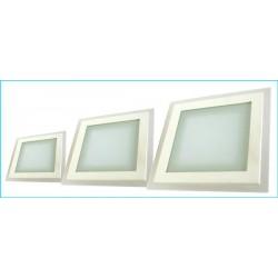 Pannello Led Quadrato Incasso Da Soffitto Design Moderno con Vetro