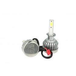 Kit Full Lampada Led Cob H1 20W 12V 24V Bianco 6000K Per Abbagliante e Fendinebbia Senza Driver