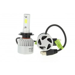 Kit Full Led Cob H7 30W Con Ventilatore 12V 24V Attacco Smontabile All In One Senza Driver 3000 Lumen