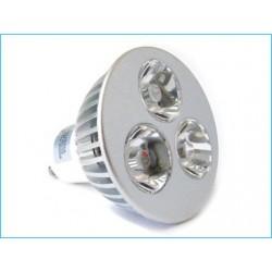 """Lampada a LED """"GU10"""" con 3 LED da 1W (3x1W) 220V"""
