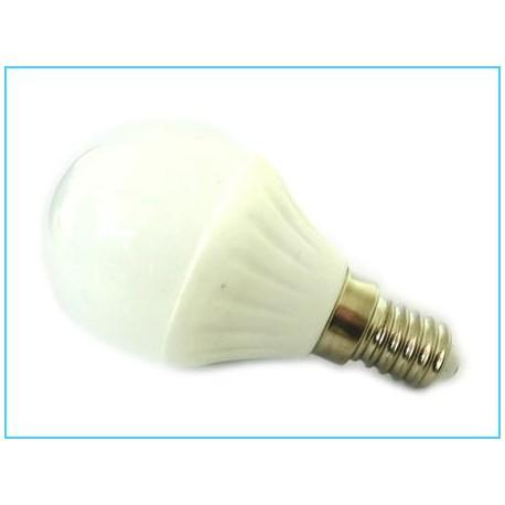 Lampada led bulbo sfera e14 220v 4w 45w bianco freddo base for Lampade a led 220v