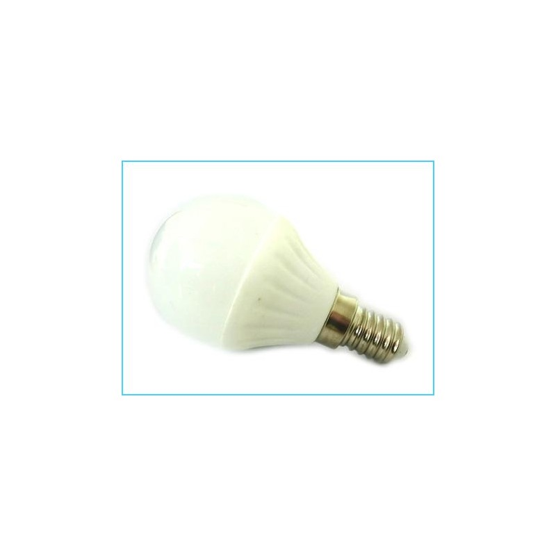 Lampada led bulbo sfera e14 220v 4w 45w bianco freddo base for Lampada led e14
