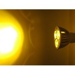 Lampada LED Dicroica MR16 GU5.3 3W 3X1W 12V Colore Giallo Arancione