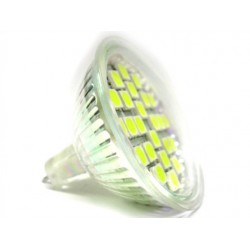 Lampada LED Dicroica MR16 GU5.3 4W Bianco Freddo 12V DC/AC 24 SMD 5050