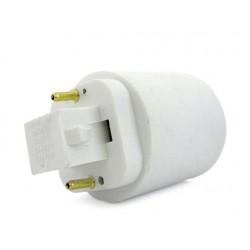 2 PZ Convertitore Adattatore Portalampada Per Lampada Attacco Da G23 2 Pin A E27