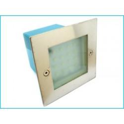 Faretto 16 LED Segnapasso ad incasso muro quadrato