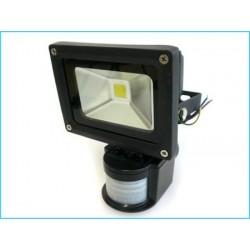 Faro Led COB 10W Con Sensore Movimento PIR e Luce Crepuscolare Bianco Puro