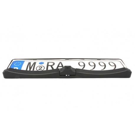 Kit Telecamera Orientabile Con 2 Sensori Parcheggio Cicalino Acustico Portatarga Standard EU Stagna 12V C720