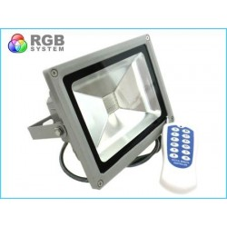 Proiettore Faro Led RGB COB 20W Esterno IP65 Con Telecomando Wireless RF