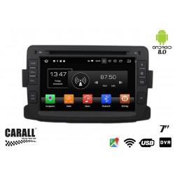 Autoradio Android 8,0 Dacia Duster GPS DVD USB SD WI-FI Bluetooth Navigatore