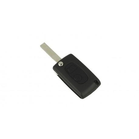 Guscio Chiave Telecomando 2 Tasti Con Lama HU83 Batteria Su Circuito Senza Transponder Per Peugeot Citroen