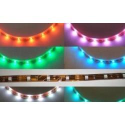Bobina Led Biadesivo 5 Metri 150 SMD 5050 RGB 7 Colori Senza Silicone