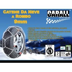 Catene Da Neve A Rombo Per Auto 9mm Gruppo 45 Carall Mezza Misura Omologato ONORM V 5117 175/60-14 185/55-14 155/65-15