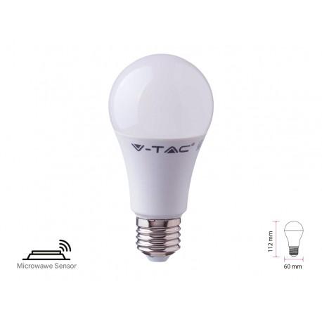 Lampada A Led E27 Con Sensore Microonde 11W A60 RA80 Freddo 6400K Bulbo 1055m SKU-2765