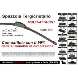Spazzola Tergicristallo Auto Universale S985 17'' 425mm Carall 16 Attacchi Opzionale