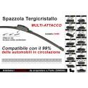 Spazzola Tergicristallo Auto Universale S985 23'' 575mm Carall 16 Attacchi Opzionale