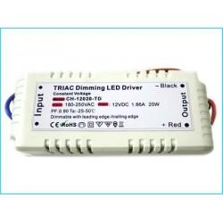 Alimentatore Trasformatore Dimmerabile Su 220V AC Trasforma a 12V DC 20W Per Luci LED
