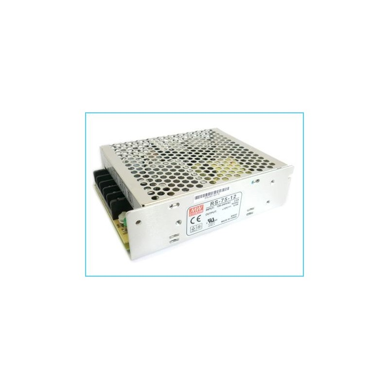 Alimentatore meanwell 75w 6a rs 75 12 trasformatore ac for Lampade led 220v