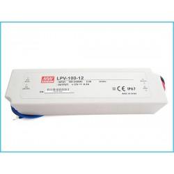 Alimentatore Trasformatore MeanWell Impermeabile IP67 12V 100W