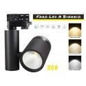 Faro Lampada Led A Binario 30W Trifase CCT CRI 90 Carcassa Nera 2700K 4000K 6000K 3 In 1 Luce Stretto 24 Gradi