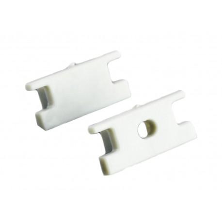 Coppia Tappi Tappini Termine Per Chiusure Profilo Barra Alluminio Calpestabile BA1908