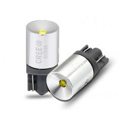 Lampada Led T10 W5W Canbus Pro 12V 3W Chip Cree XBD No Errore Luci Posizione 90 Gradi Bianco