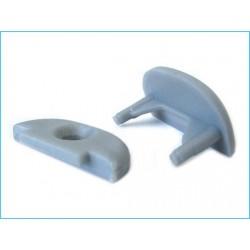 Tappo Tappino Termine Per Chiusure e Fissaggio A Muro Profilo Barra Alluminio Rigida Tondo