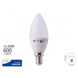 Lampada A Led E14 C37 7W 600LM Bianco Freddo 6000K Forma Goccia Oliva Candela SKU-113