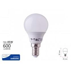 Lampada A Led E14 P45 7W 600LM Bianco Freddo 6000K Forma Sfera Bulbo Pallina SKU-865