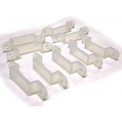 20 PZ Clip Per Fissare Bobina Strip Led Impermeabile Da 10mm Di Larghezza