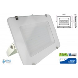 Faro Led Flood Light 300W IP65 Bianco Neutro Super Slim 55mm Carcassa Bianca Samsung Garanzia 5 Anni SKU-486