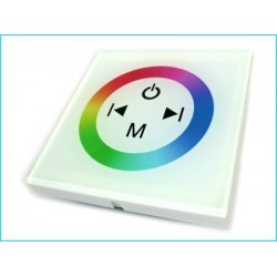 Kit Led Controller RGB Touch Panel Da Incasso Quadrata 12V 144W